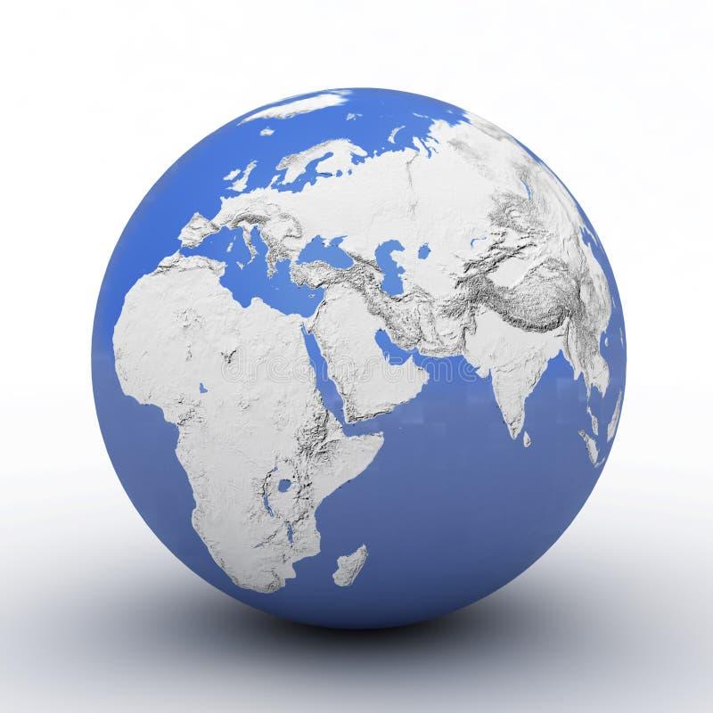 - globus white obrazy stock