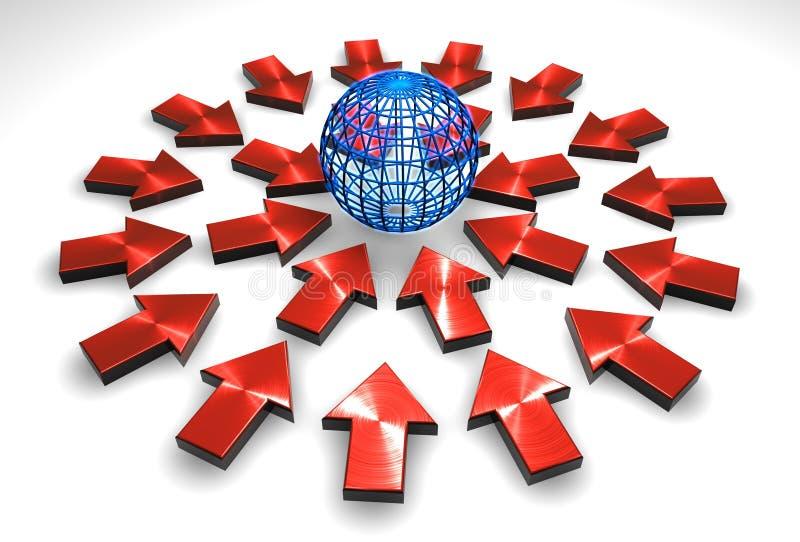 - globus wskazuje royalty ilustracja