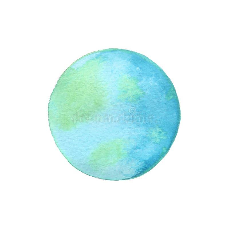 - globus ziemi Wektorowa ilustracja akwarela royalty ilustracja