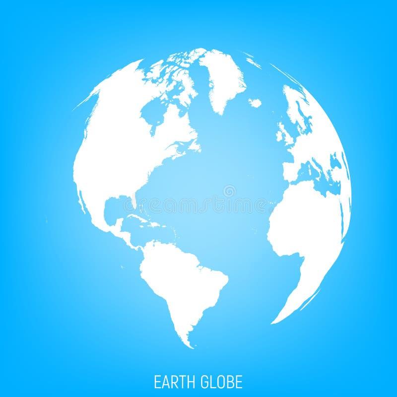 - globus ziemi Widok na północ i południe Ameryka ilustracja wektor