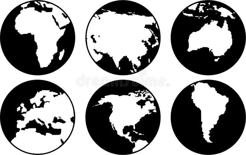 globusy royalty ilustracja