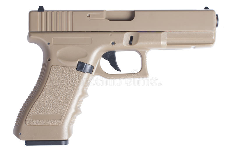 Glock自动9mm手枪手枪 免版税库存照片