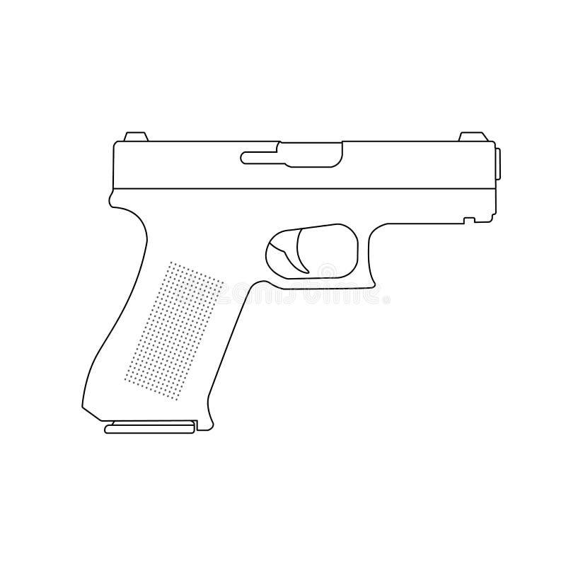 Glock broni ilustracja royalty ilustracja