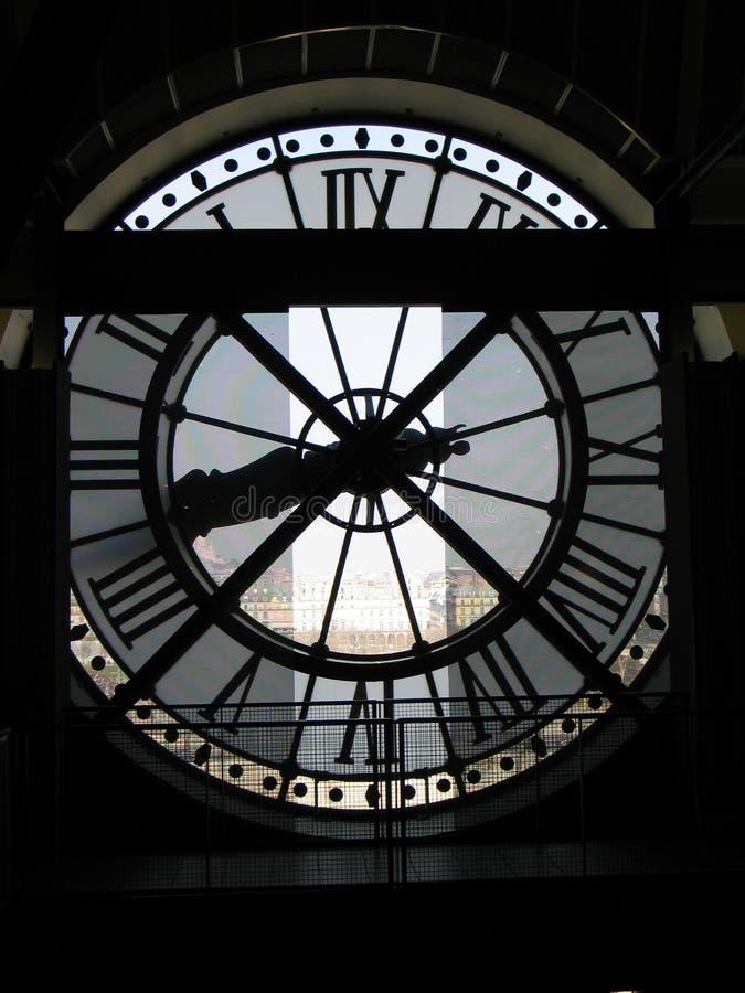 Glock des Museums d'Orsay stockbilder