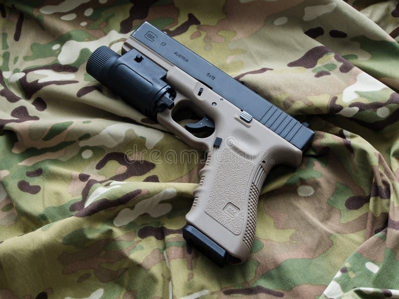 Glock 17 9mm półautomatyczna krócica fotografia royalty free