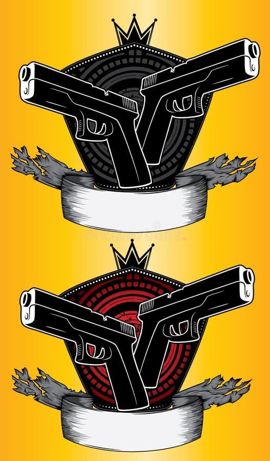 Glock Weapon Design Stamps Stock Illustration Illustration Of
