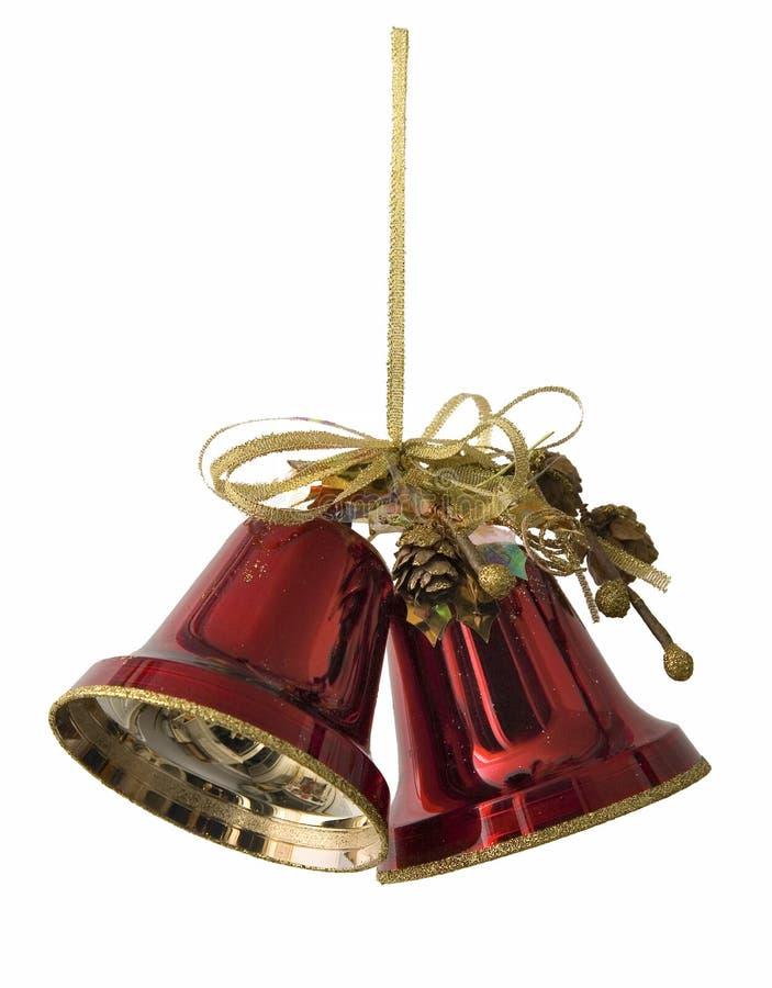 Glocke des neuen Jahres Hand lizenzfreies stockfoto