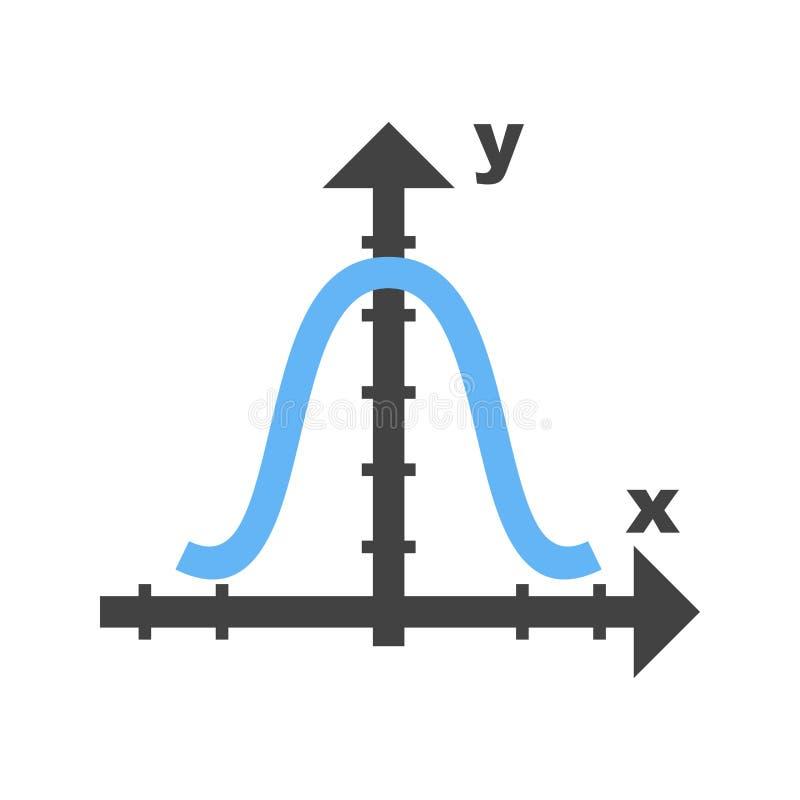 Glockenförmiges Diagramm vektor abbildung