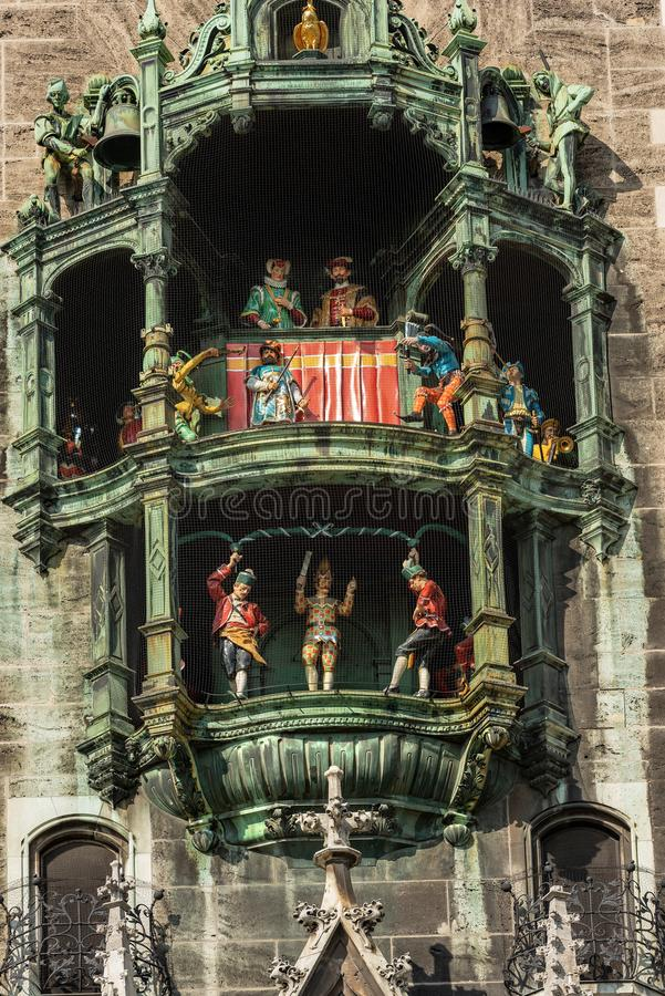 Glockenspiel - Neue Rathaus - Munich Allemagne photo stock