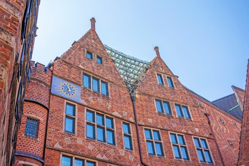 Glockenspiel på den Boettcher gatan, Bremen arkivfoton