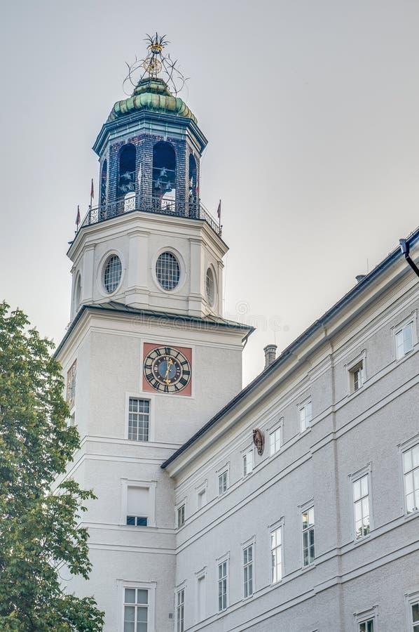 Glockenspiel som lokaliseras i Salzburg, Österrike royaltyfria bilder