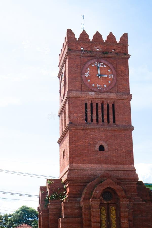 Glockenturm bei Kamphaeng Phet, Thailand stockbilder