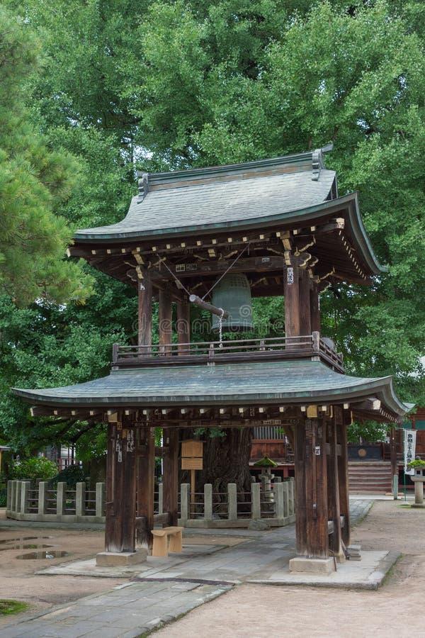 Glockenturm an buddhistischem Tempel Hikakokubun-ji lizenzfreies stockbild