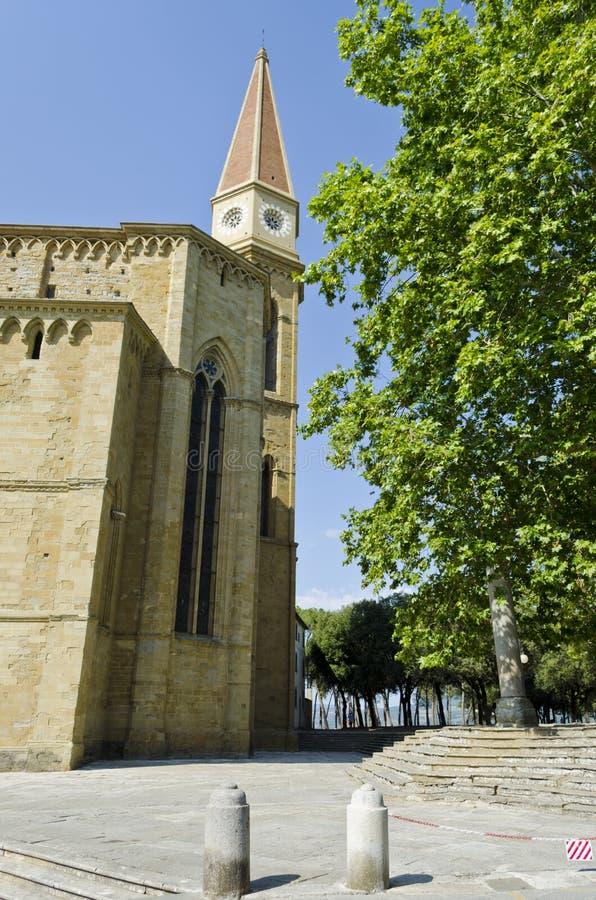 Glockenturm der Arezzo-Kathedrale - Italien stockfotografie