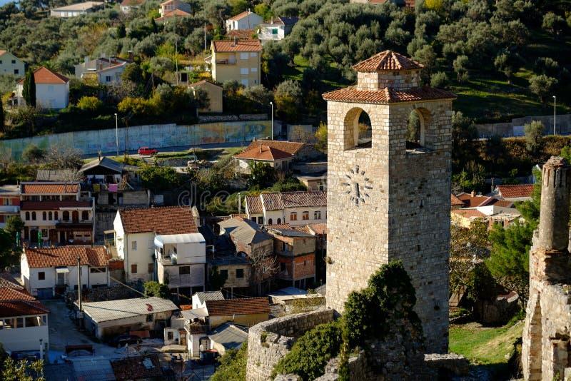 Glockenturm in der Stari-Absolvent-Stange, Montenegro stockbilder
