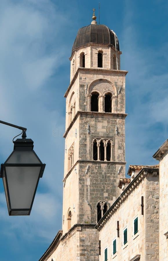 Glockenturm in Dubrovnik stockbild