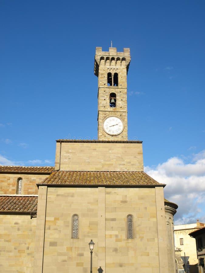 Glockenturm in Fiesole stockfotografie