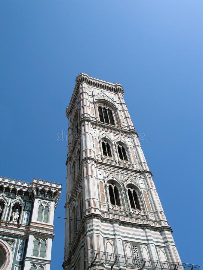 Glockenturm Giotto in Florenz, Italien, Meisterwerk des 14. Jahrhunderts der Architektur stockfotos