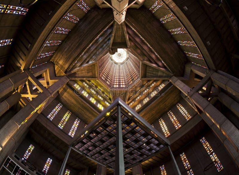 Glockenturm, Heiliges Josephs-Kirche bei Le Havre stockbild
