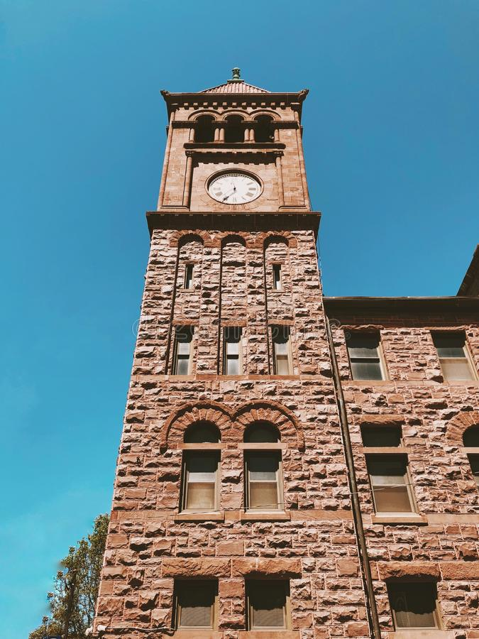 Glockenturm in Jim Thorpe stockfotos