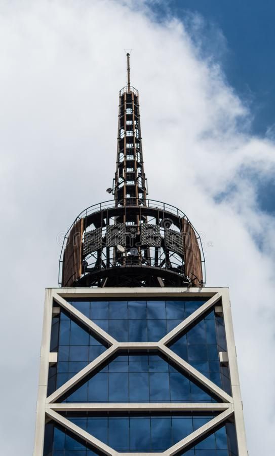 Glockenturm in Sao Paulo, Brasilien lizenzfreie stockfotografie