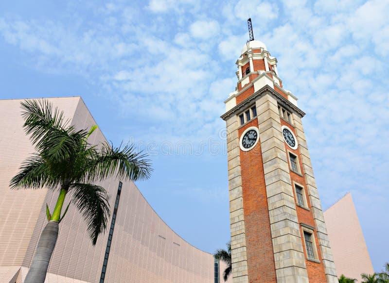 Glockenturm in Tsim Sha Tsui stockbilder
