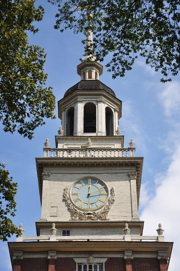 Glockenturm Unabhängigkeit-Hall- stockbild