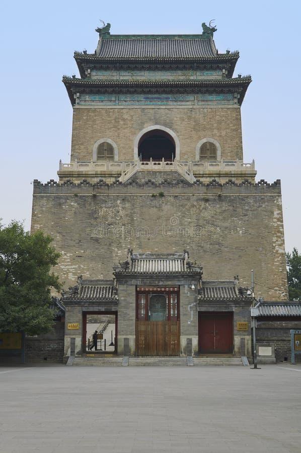 Glockenturm von Peking, China stockbild