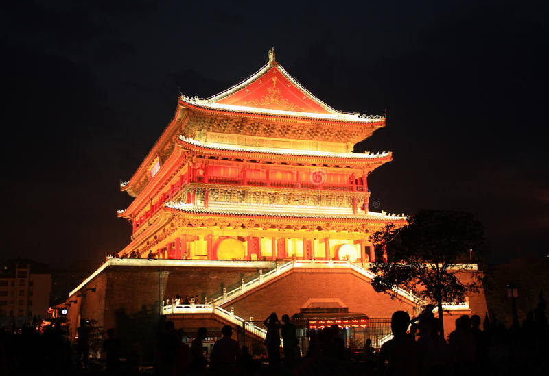 Glockenturm Xi'ans lizenzfreies stockfoto
