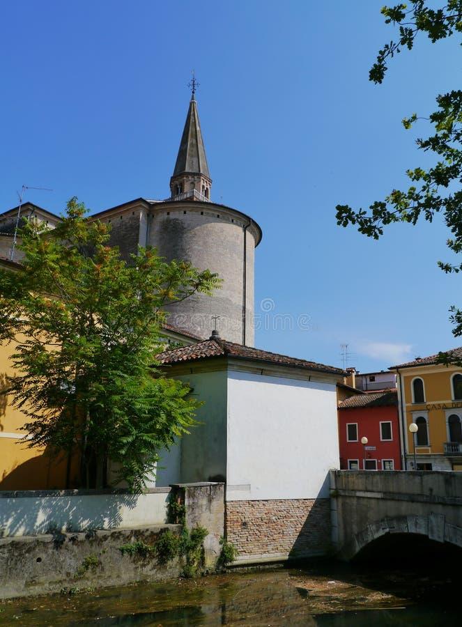 Glockenturmkathedrale Portogruaro lizenzfreies stockbild