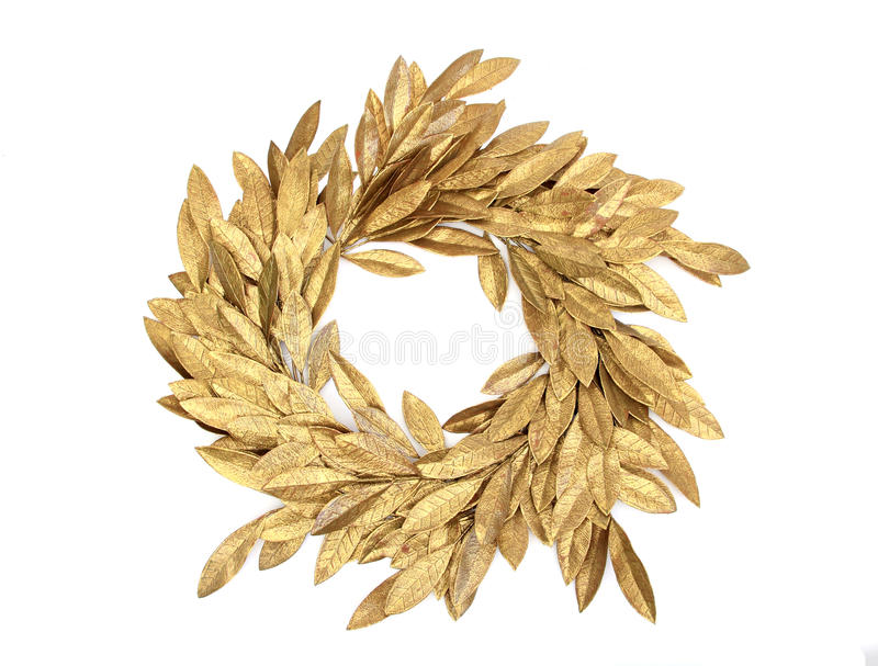 Gloden christmas crown stock image