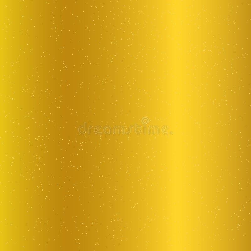 Gloden gradientowy tło i złocista błyskotliwości tekstura Błyskotanie luksusu glittery świąteczny styl ilustracja wektor