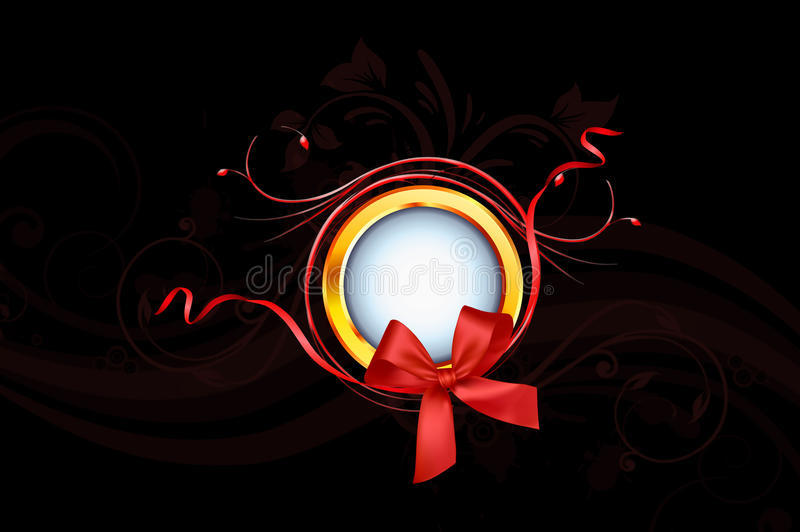 Gloden Ring And Red Ribbon foto de stock royalty free