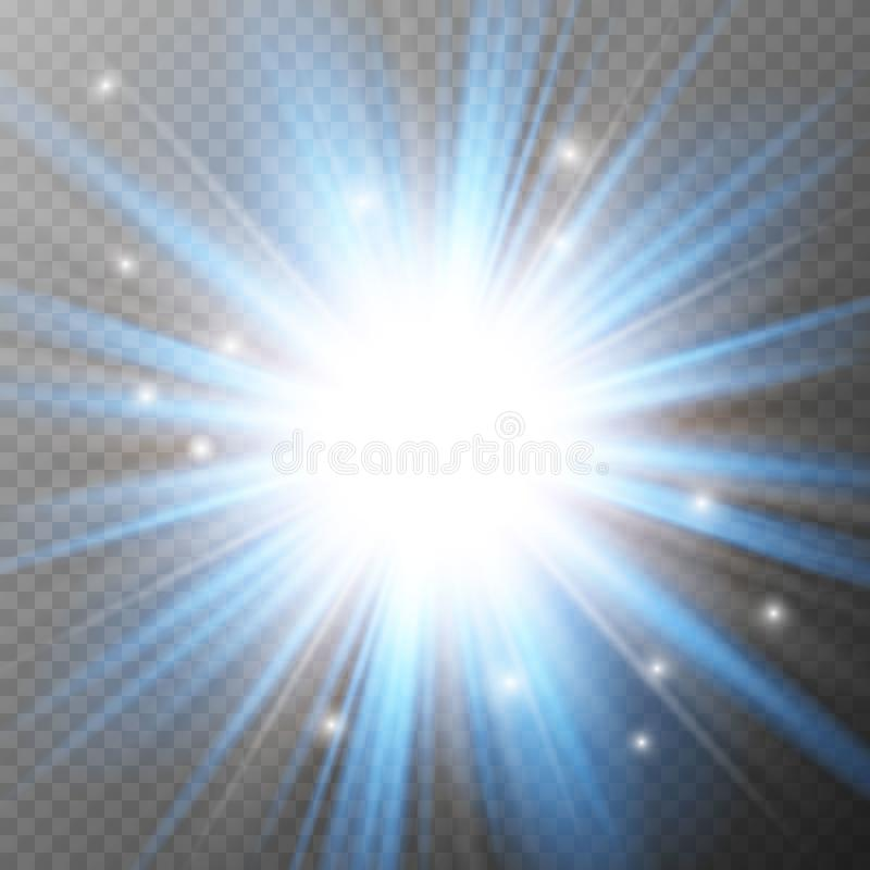 Gloed lichteffect stock illustratie