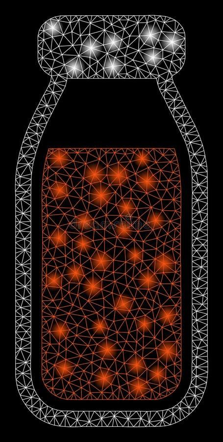 Gloed Mesh Network Full Bottle met Gloedvlekken stock illustratie