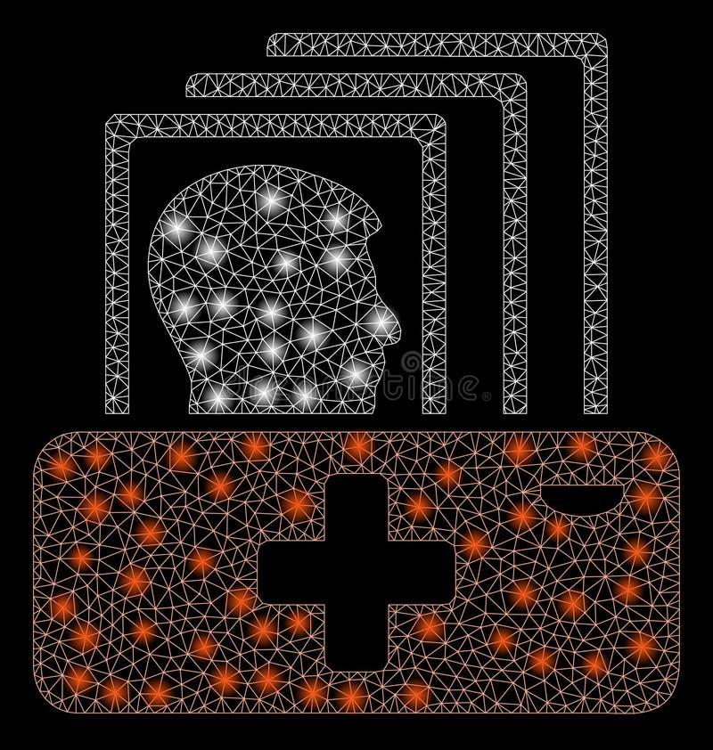 Gloed Mesh Network Patient Catalog met Gloedvlekken royalty-vrije illustratie