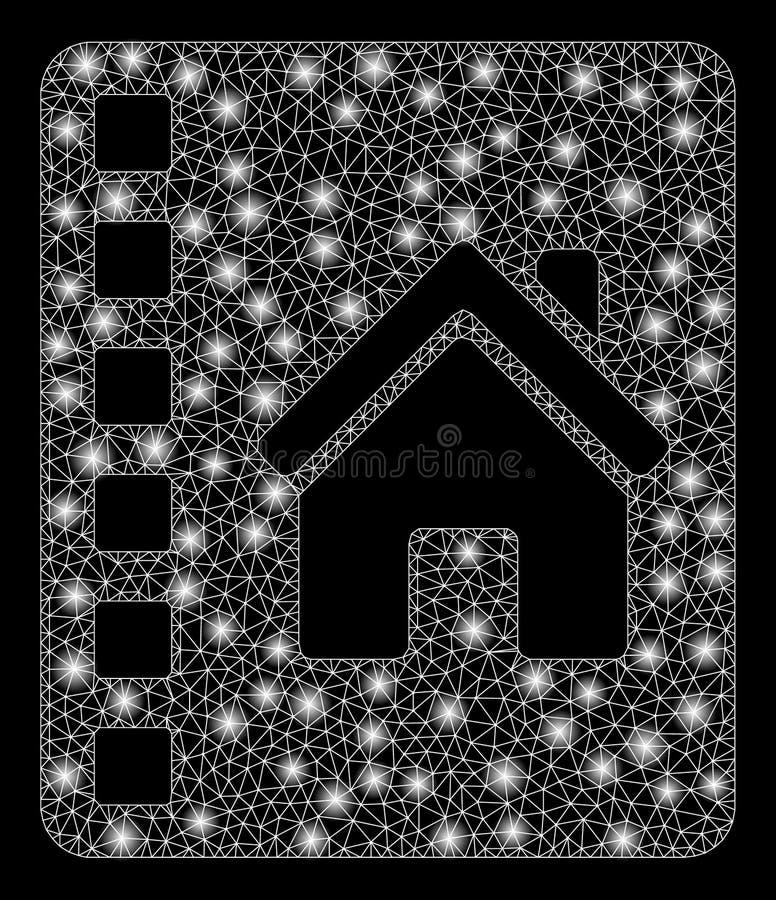 Gloed Mesh Wire Frame Realty Catalog met Gloedvlekken vector illustratie