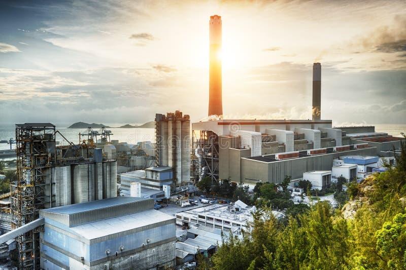 Gloedlicht van de petrochemische industrie royalty-vrije stock foto