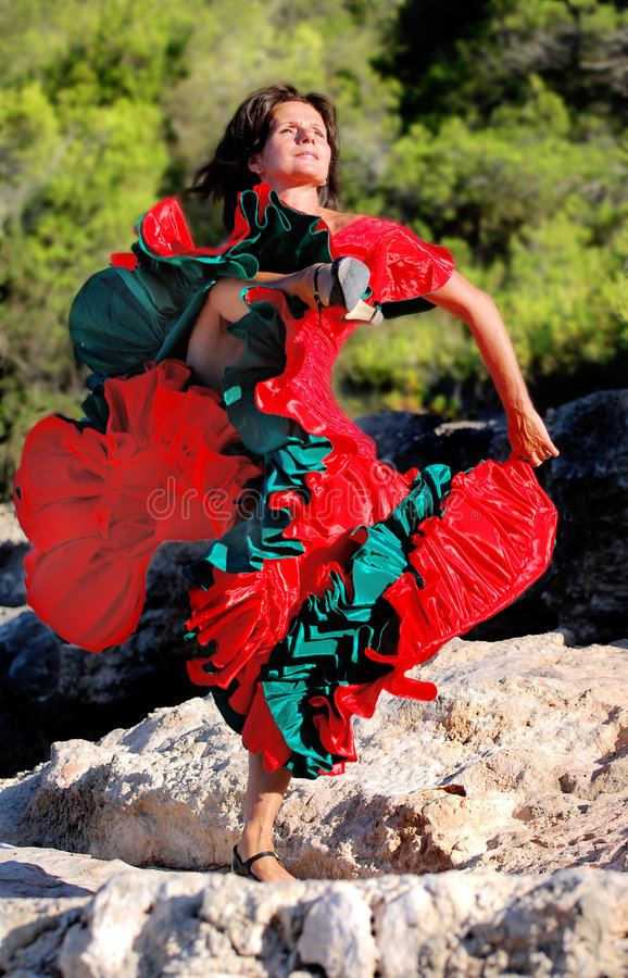 Gloedvolle Dans 01 van het Flamenco royalty-vrije stock afbeelding