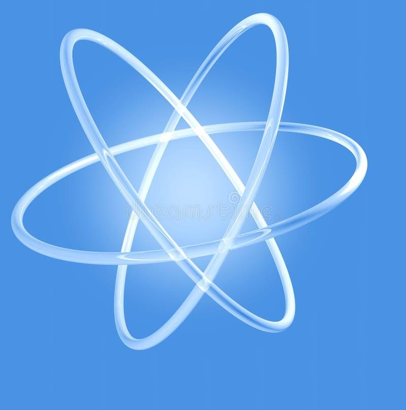 Gloeiend atoom stock afbeeldingen