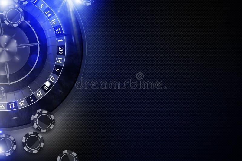 Gloeiend Blauw Roulettespel vector illustratie