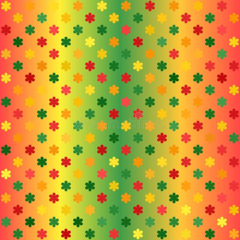 Gloeiend bloempatroon Naadloze vectorgradiëntachtergrond royalty-vrije illustratie