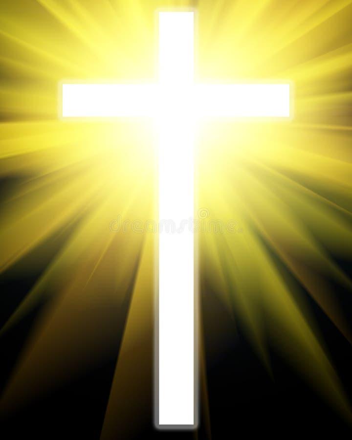 Gloeiend kruis vector illustratie