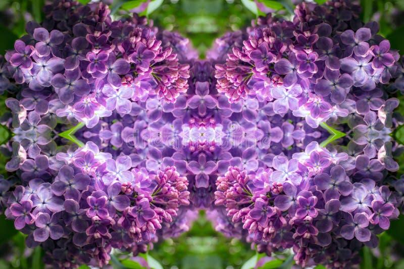 Gloeiend lilac portaal aan een andere wereld stock afbeelding