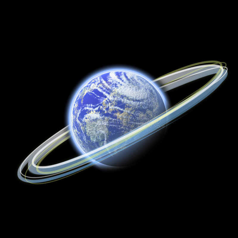 Gloeiende aarde royalty-vrije illustratie