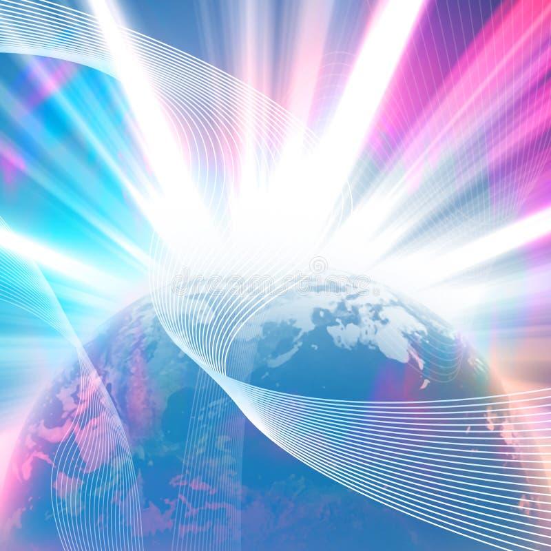 Gloeiende Aarde vector illustratie