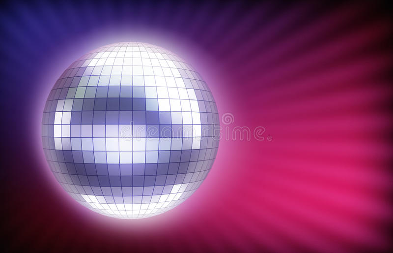 Gloeiende discobal royalty-vrije illustratie