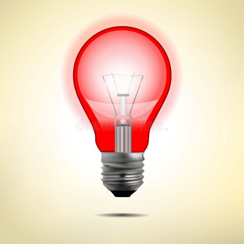 Gloeiende elektrische lamp in vectorformaat vector illustratie