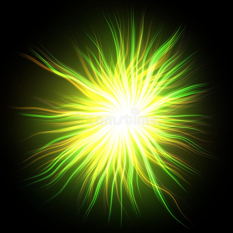 Download Gloeiende geelgroene ster stock illustratie. Illustratie bestaande uit illustratie - 54079667