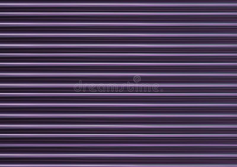 Gloeiende geribbelde abstracte gradiënt achtergrond purpere lilac horizontale neonlijnen stock afbeelding